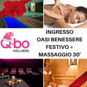 offerta natale q-bo wellness buono ingresso oasi benessere festivo e massaggio da 30 mimuti