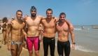 I primi a tagliare il traguardo! Da sinistra: Alessandroni Ettore, Petrini Andrea, Gregorio Federico, Polini Francesco