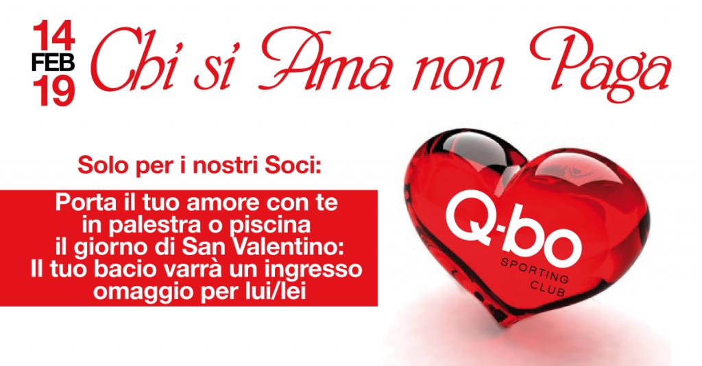Chi si ama non paga iniziativa in occasione di San Valentino del Qbo Wellness