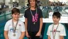 Lorenzo sul podio dei Campionati regionali salvamento categoria Esordienti A 50 metri ostacolo