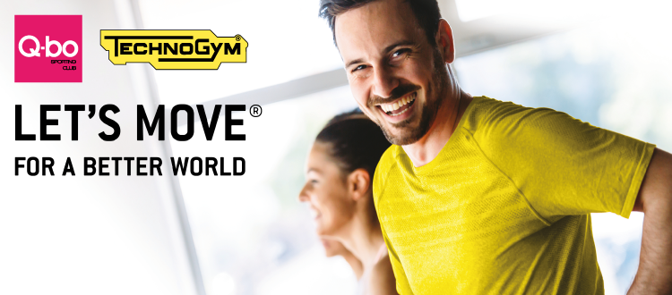 Q-bo Wellness per let's move for a better world di technogym