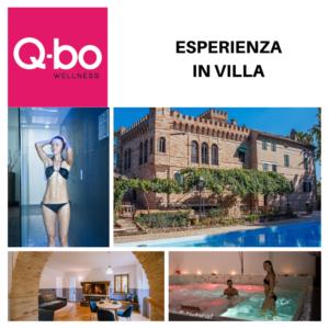 Esperienza in villa: pacchetto pernottamento a villa de castelletta e ingresso oasi al Q-bo Wellness