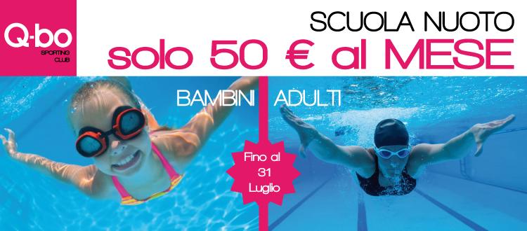 promozione scuola nuoto bambini o adulti estate 2020 Q-bo Wellness