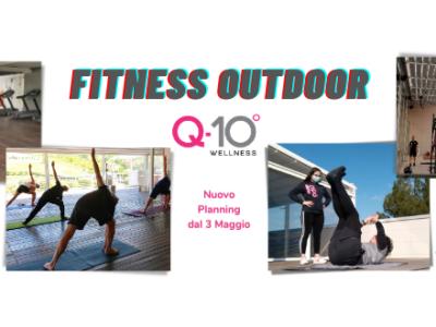 Nuovo planning corsi fitness all'aperto attivi dal 3 Maggio 2021 presso il Q-bo Wellness